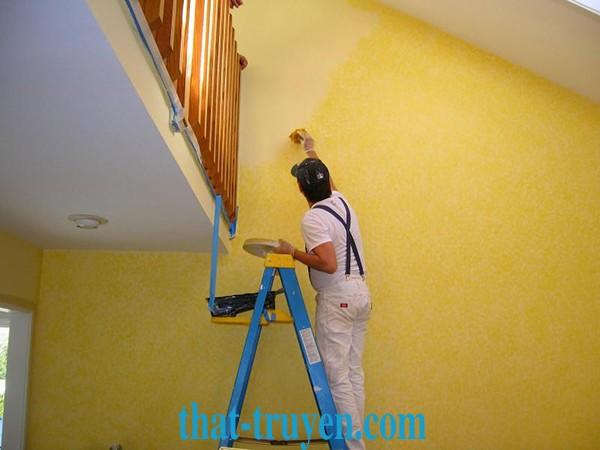 Các bước thi công sơn sửa nhà đẹp
