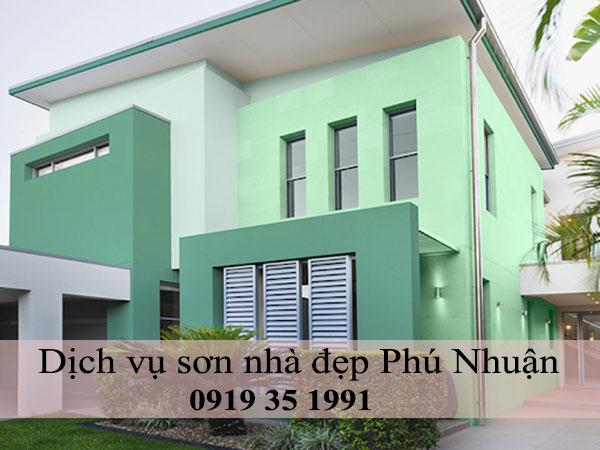 Dịch vụ sơn nhà đẹp Phú Nhuận