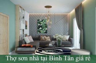 Thợ sơn nhà tại Bình Tân giá rẻ