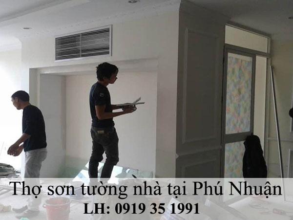 Thợ sơn tường nhà tại Phú Nhuận