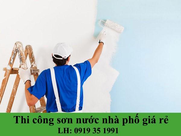 Thi công sơn nước nhà phố giá rẻ