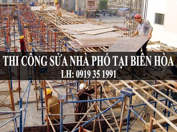 Thi công sửa nhà phố tại Biên Hòa.