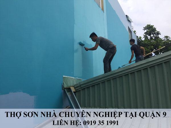 Thợ sơn nhà chuyên nghiệp tại quận 9