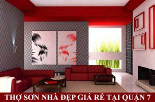 Thợ sơn nhà đẹp giá rê tại quận 7